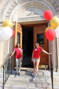 Orientation leaders welcomed new students and their families to campus last week for Chestnut Hill College's Griffin Days.