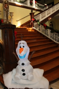 Olaf from Frozen in the Rotunda