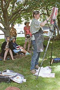 Fifteen artists joined instructor Liz Haywood-Sullivan during the week of June 13-17 in a Plein Air Workshop sponsored by Studio Incamminati on CHC's campus