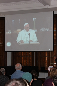 Pope Francis addresses the United Nations