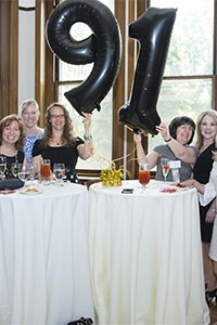 Members of the Class of '91 gather together and celebrate at the College's 70th Annual Reunion Weekend